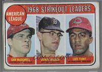 1968 AL Strikeout Leaders (Sam McDowell, Denny McLain, Luis Tiant) [Poor]