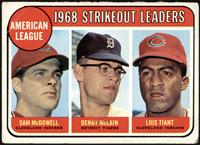 1968 AL Strikeout Leaders (Sam McDowell, Denny McLain, Luis Tiant) [FAIR]