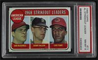 1968 AL Strikeout Leaders (Sam McDowell, Denny McLain, Luis Tiant) [PSA8&…