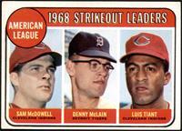 1968 AL Strikeout Leaders (Sam McDowell, Denny McLain, Luis Tiant) [EX]