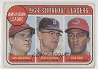 1968 AL Strikeout Leaders (Sam McDowell, Denny McLain, Luis Tiant) [Poort…