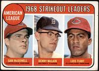 1968 AL Strikeout Leaders (Sam McDowell, Denny McLain, Luis Tiant) [GOOD]