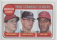 1968 AL Strikeout Leaders (Sam McDowell, Denny McLain, Luis Tiant) [Good t…
