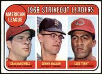 1968 AL Strikeout Leaders (Sam McDowell, Denny McLain, Luis Tiant) [VGEX+]