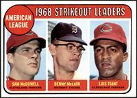 1968 AL Strikeout Leaders (Sam McDowell, Denny McLain, Luis Tiant) [VG]