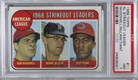 1968 AL Strikeout Leaders (Sam McDowell, Denny McLain, Luis Tiant) [PSA7&…
