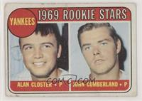 1969 Rookie Stars - Al Closter, John Cumberland [Poor to Fair]