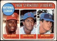 1968 NL Strikeout Leaders (Bob Gibson, Fergie Jenkins, Bill Singer) [POOR]