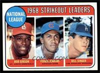 1968 NL Strikeout Leaders (Bob Gibson, Fergie Jenkins, Bill Singer) [NM]