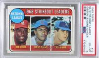 1968 NL Strikeout Leaders (Bob Gibson, Fergie Jenkins, Bill Singer) [PSA6…