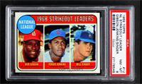 1968 NL Strikeout Leaders (Bob Gibson, Fergie Jenkins, Bill Singer) [PSA8…