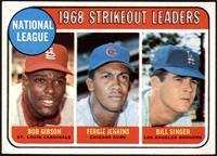 1968 NL Strikeout Leaders (Bob Gibson, Fergie Jenkins, Bill Singer) [EX+]