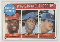 1968 NL Strikeout Leaders (Bob Gibson, Fergie Jenkins, Bill Singer) [Good…