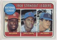 1968 NL Strikeout Leaders (Bob Gibson, Fergie Jenkins, Bill Singer) [Altered]