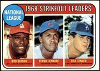 1968 NL Strikeout Leaders (Bob Gibson, Fergie Jenkins, Bill Singer) [EX]