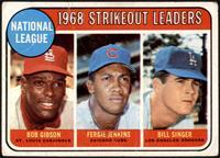 1968 NL Strikeout Leaders (Bob Gibson, Fergie Jenkins, Bill Singer) [FAIR]