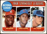 1968 NL Strikeout Leaders (Bob Gibson, Fergie Jenkins, Bill Singer) [GOOD]