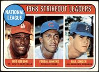 1968 NL Strikeout Leaders (Bob Gibson, Fergie Jenkins, Bill Singer) [VG+]