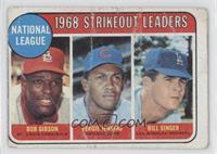 1968 NL Strikeout Leaders (Bob Gibson, Fergie Jenkins, Bill Singer) [Poor…