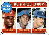 1968 NL Strikeout Leaders (Bob Gibson, Fergie Jenkins, Bill Singer) [VG]