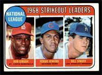 1968 NL Strikeout Leaders (Bob Gibson, Fergie Jenkins, Bill Singer) [VGEX]