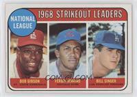 1968 NL Strikeout Leaders (Bob Gibson, Fergie Jenkins, Bill Singer)