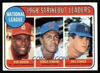 1968 NL Strikeout Leaders (Bob Gibson, Fergie Jenkins, Bill Singer) [EXMT]