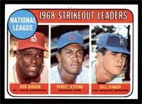 National League 1968 Strikeout Leaders (Bob Gibson, Fergie Jenkins, Bill Singer…