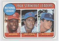 National League 1968 Strikeout Leaders (Bob Gibson, Fergie Jenkins, Bill Singer)
