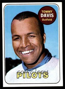 1969 Topps - [Base] #135 - Tommy Davis [EX]