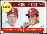 1969 Rookie Stars - Steve Huntz, Mike Torrez [POOR]