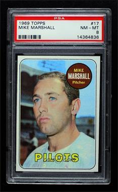 1969 Topps - [Base] #17 - Mike Marshall [PSA8NM‑MT]