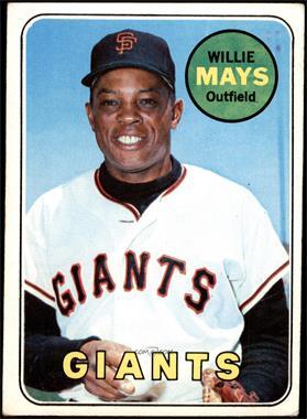 1969 Topps - [Base] #190 - Willie Mays [VG]