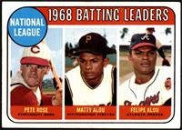 1968 NL Batting Leaders (Pete Rose, Felipe Alou, Matty Alou) [VG+]