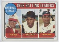 1968 NL Batting Leaders (Pete Rose, Felipe Alou, Matty Alou)