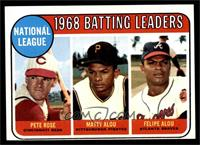 1968 NL Batting Leaders (Pete Rose, Felipe Alou, Matty Alou) [VG EX]