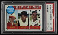 1968 NL Batting Leaders (Pete Rose, Felipe Alou, Matty Alou) [PSA8N…