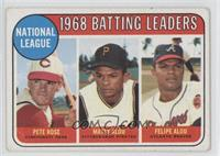 Pete Rose, Felipe Alou, Matty Alou [Good to VG‑EX]