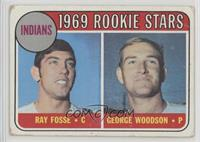 Indians Rookies (Ray Fosse, George Woodson) [Poor]