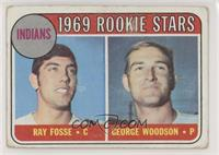 Indians Rookies (Ray Fosse, George Woodson) [Poor to Fair]