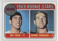 Indians Rookies (Ray Fosse, George Woodson)