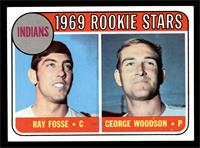 Indians Rookies (Ray Fosse, George Woodson) [EX]