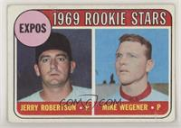 1969 Rookie Stars - Jerry Robertson, Mike Wegener [Good to VG‑E…
