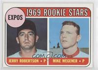 1969 Rookie Stars - Jerry Robertson, Mike Wegener