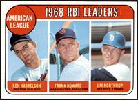 1968 AL RBI Leaders (Ken Harrelson, Frank Howard, Jim Northrup) [EX+]