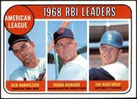 1968 AL RBI Leaders (Ken Harrelson, Frank Howard, Jim Northrup) [EXMT]
