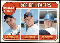 1968 AL RBI Leaders (Ken Harrelson, Frank Howard, Jim Northrup) [GD+]