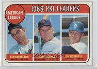 1968 AL RBI Leaders (Ken Harrelson, Frank Howard, Jim Northrup)