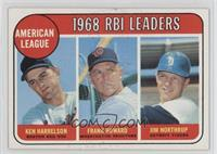 1968 AL RBI Leaders (Ken Harrelson, Frank Howard, Jim Northrup) [Goodto&n…