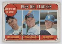 1968 AL RBI Leaders (Ken Harrelson, Frank Howard, Jim Northrup) [Poorto&n…